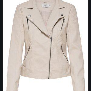 Only Zip-Front Biker Jacket